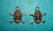 Pirate Charm Skull and Crossbones Ship Anchor Charm Mermaid Swashbuckler Charm