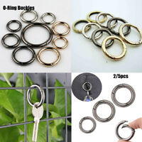 2/5pc Spring O Ring Open Keyring Leather Bag Belt Buckle Snap Clasp Clip Trigger