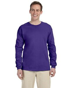 4930 Fruit of the Loom Adult 5 oz HD Cotton Long-Sleeve T-Shirt