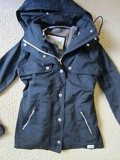 ABERCROMBIE & FITCH A&F 2 IN 1 BLACK JACKET OUTERWEAR REMOVABLE LINER XSMALL