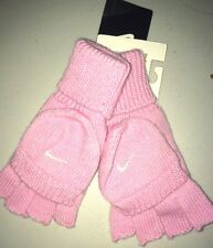 NEW NIKE GIRLS  PINK WOOL GLOVES 6-8 YEARS AUTHENTIC