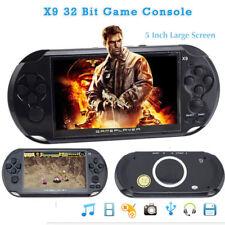 """X9 Ricaricabile CONSOLE PORTATILE PVP LCD 5"""" 8G 1200GIOCHI  VIDEO MP3 PLAYER CAM"""