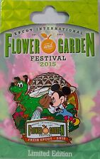 NEW Disney 2015 Epcot Flower & Garden Festival Mickey Pluto Limited Edition Pin
