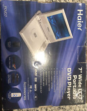 """Haier 7"""" Portable Dvd Player Pdvd7 w/ Remote , All Cables & Manual Excellent"""