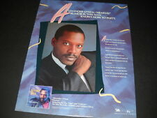 Alexander O'Neal .this man knows how to party 1987 Promo Poster Ad mint cond