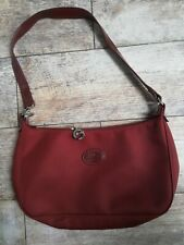 Genuine LONGCHAMP crossbody shoulder handbag Dark maroon nylon
