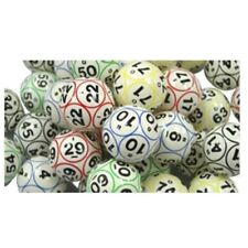 Bingo Balls - Colored & Coated 12 Sided Print Ping Pong Size