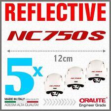 5x NC750S red HONDA MOTO ADESIVI PEGATINA STICKERS AUTOCOLLANT helmet casco