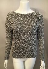 Stunning Rock & Republic Black White Marled Sequin Sweater Long Sleeve Size XS