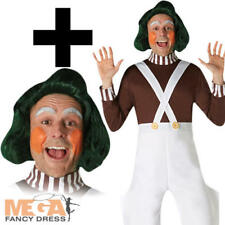 Oompa Loompa + Wig Adults Fancy Dress Chocolate Factory Worker Book Day Costume