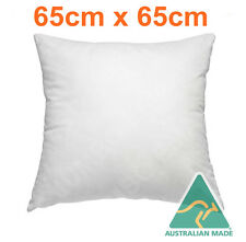 Australian Made New European Cushion Pillow Inserts/Premium Polyester 65 x 65 cm