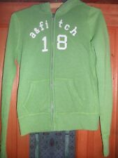 Chicas Abercrombie + Fitch Verde Algodón Cremallera Frontal Sudadera Con Capucha Talla XL