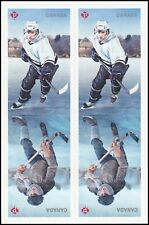Canada History of Hockey block (self-adhesive from booklet of 10) MNH 2017