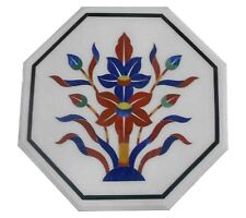 """12"""" Marble Coffee Table Top Lapis Carnelian Marquetry Inlay Home Decor Gifts"""