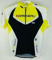 Louis Garneau Cycling Jersey Men's Medium High Visibility Yellow Shirt Top