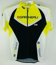 Louis Garneau Cycling Jersey Men's Medium High Visibility Yellow Shirt Top