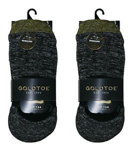 Gold Toe 6-Pairs The Tab Marled No-Show Men's Liner Socks One Size NWT Black