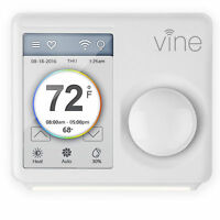 "Xing TJ-610 Vine Smart Wi-Fi Programmable Thermostat w/ 3.5"" LCD Touchscreen"