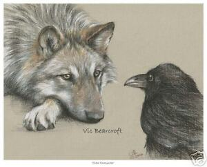 'Close Encounter' Open Edition Wolf Print, Wolves, New!
