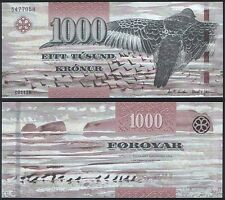 Faeroe Is P 33 - 1000 Kronur 2011 2012 - UNC