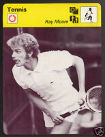 RAY MOORE South African Tennis Player Photo 1978 SPORTSCASTER CARD 51-12