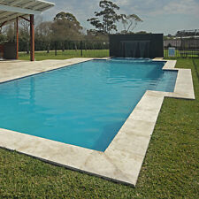 Light Travertine Pavers Bullnose Pool Coping Tile 406x406x30mm Premium Quality