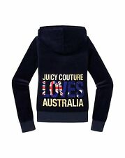 JUICY COUTURE DESTINATIONS LOVES AUSTRALIA REGAL VELOUR HOODIE L 12 14 £130!
