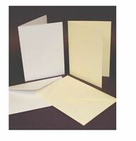 "50 x 5"" x 7"" WHITE BLANK CARDS 250gsm & ENVELOPES 120gsm CARD MAKING CRAFT 289"