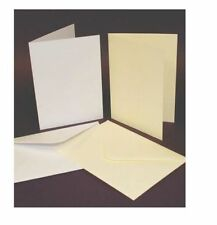 50 x 5x 7 WHITE BLANK CARDS 250gsm & ENVELOPES 120gsm CARD MAKING CRAFT 289