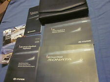 2011 HYUNDAI SONATA GLS SE LIMITED OWNERS MANUAL OWNER'S SET W/ CASE NEW