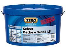 ZERO 12,5 Ltr Select Decke + Wand LF weiß Wandfarbe Innenfarbe Farbe Decke Wand