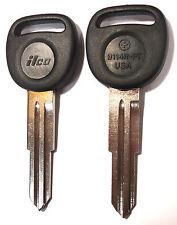 2 (Pair) NEW GM CHEVY Transponder Chipped Master Key Blank 96464219 B114R-PT