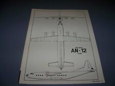 "VINTAGE..ANTONOV AN-12 ""CUB""....3-VIEWS...RARE! (145A)"