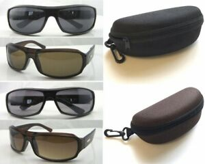 Y1202 Unisex Plastic Sunglasses/100%UV Protection/Wide Arms/Grey Or Brown Lens**
