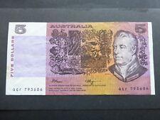 AUSTRALIA 5 Dollar Banknote 1990 fair grade   QGF 793686
