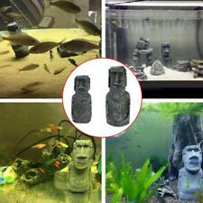 Fish Tank Aquarium Resin Ornament Landscaping Decoration Easter Island Stone New