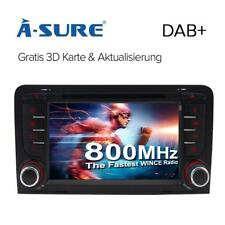 "7"" AUTORADIO GPS CD DVD Navi Bluetooth DAB 3G SD für AUDI A3 S3 RS3 8P 8V 8PA"