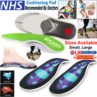 Orthotic Foot Insoles Arch Support Heel Cushion Plantar Fasciitis Orthopedic 3D