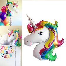 Rainbow Unicorn Fantasy Horse Birthday Party Supershape Foil Ballon 128*88CM