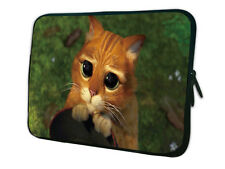 "15""-15.6"" LAPTOP SLEEVE CARRY CASE BAG FOR ALL LAPTOPS SWEET ***SHREK CAT***"