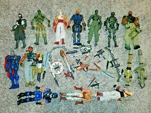 GI Joe Cobra Sigma 6 or Six lot of figures weapons parts more