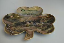 Franklin Mint Shamrock Plate Limited Edition Beautiful! Free Shipping!