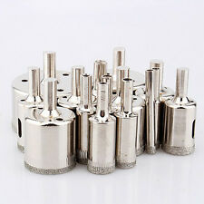 15 pcs 6-50mm Diamond Hole Saw Tile Ceramic Glass Porcelain Marble Drill Well