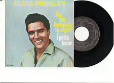 ELVIS ARE YOU LONESOME TONIGHT 45rpm RECORD CARDBOARD PICTURE SLEEVE CANADA OOP