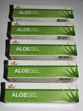 Aloe Vera Healing Gel For  Burns,Scars,Acne,Sunburn,Moisturizing  5 x 30g Tubes