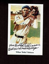 WILLIAM BOBBY ROBINSON  Signed Negro League PHOTO