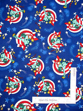 Patriotic Statue Of Liberty Star Blue Cotton Fabric Timeless Treasures - Yard