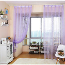 Home Curtains Window Decoration European Design Tulle Fabrics Sheer Panel White