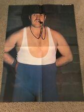 Vintage WWF SGT. SLAUGHTER & ALEX PEREZ 2-SIDED Poster 1980s WCW AWA GI JOE RARE