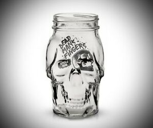 2 X DEAD MANS FINGERS SPICED RUM SKULL GLASSES - PUB BAR HOME TWO PAIR COCKTAIL